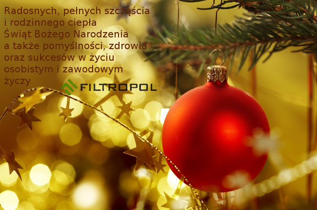 Życzenia świąteczne od firmy Filtropol